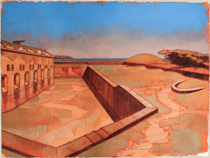 JLM Fort Macon 1 22 x 30 acrylic on paper 2012_sm