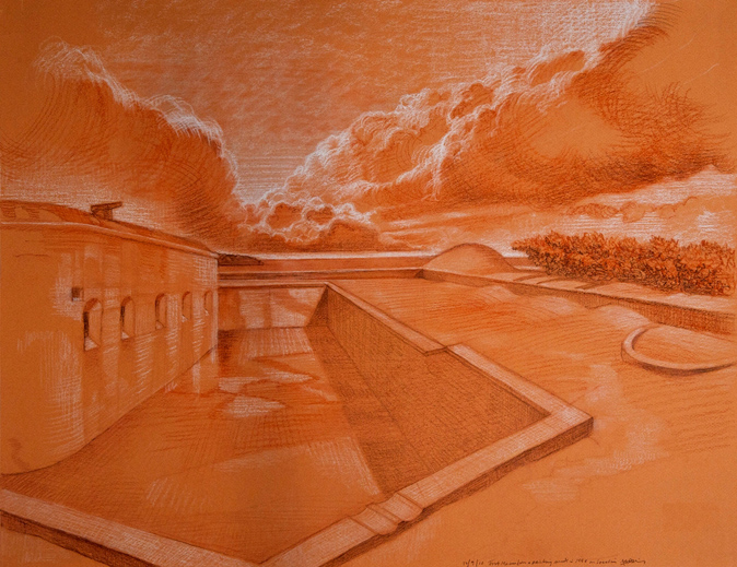 JLM_Fort_Macon_2_17-5x25-5_chalk_on_paper_2011_sm