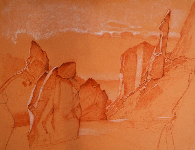 JLM_Frijoles_Canyon_17-5x25-5_chalk_on_paper_2011_sm