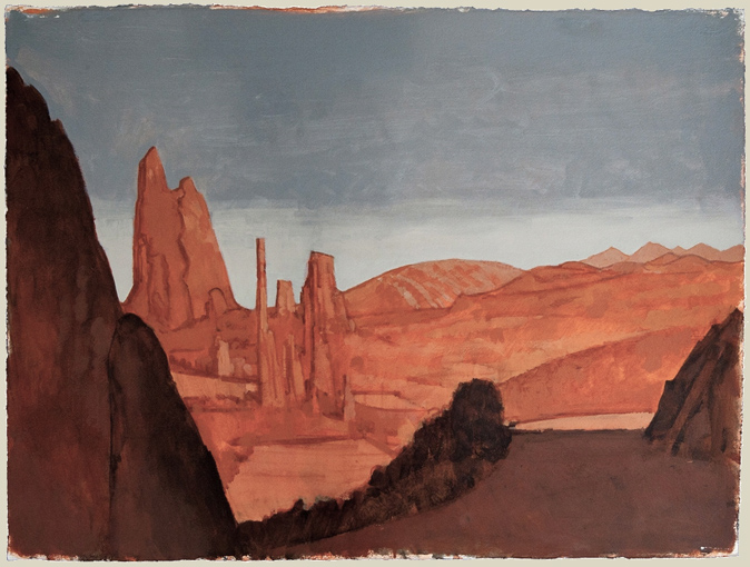 JLM_In_the_Marhin_of_the_Rockies_22x30_acrylic_on_paper_2012_sm