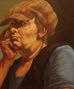 "Self-Portrait as ""Envy"", Jack Beal. 1977"